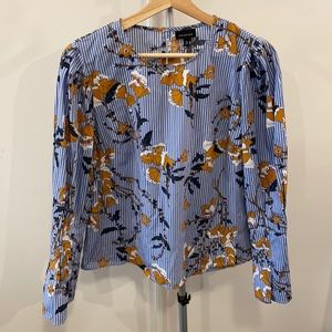 Who What Wear 100% Cotton Floral Blouse